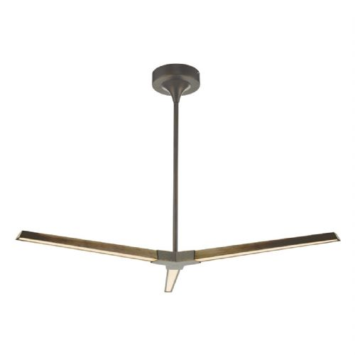 Rotor 3lt Pendant Bronze LED, Double Insulated BXROT0363-17